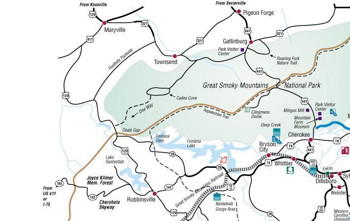 Cades Cove Joyce Kilmer Memorial Forest Fontana Dam